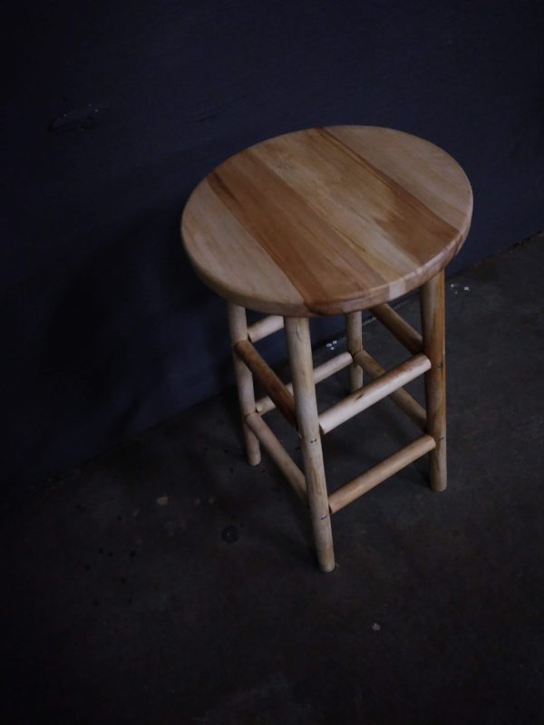 Stacy's Wooden Barstool